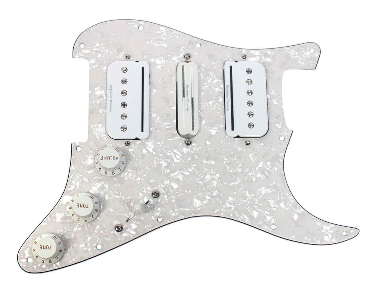 fender stratocaster strat loaded hsh pickguard duncan p rails reverb. Black Bedroom Furniture Sets. Home Design Ideas