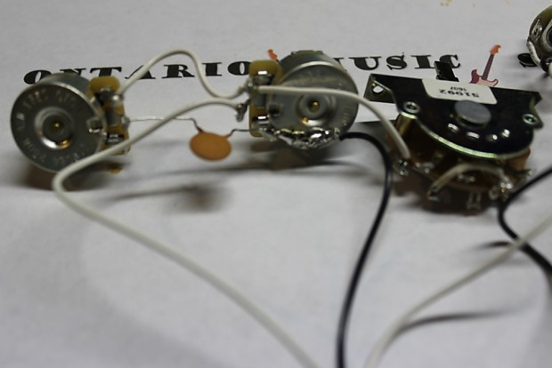 genuine fender telecaster pre wired pots 3 way switch reverb