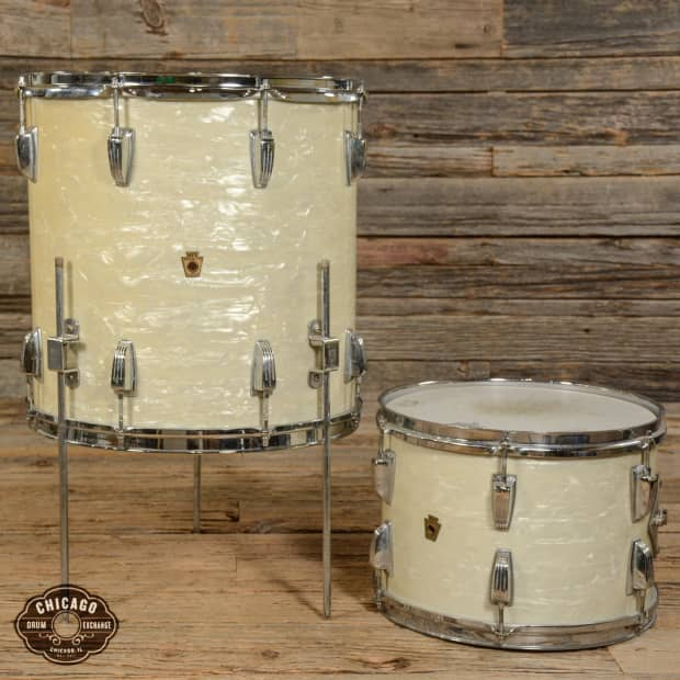 Wfl 13 16 rack floor tom drum set white marine pearl for 13 floor tom