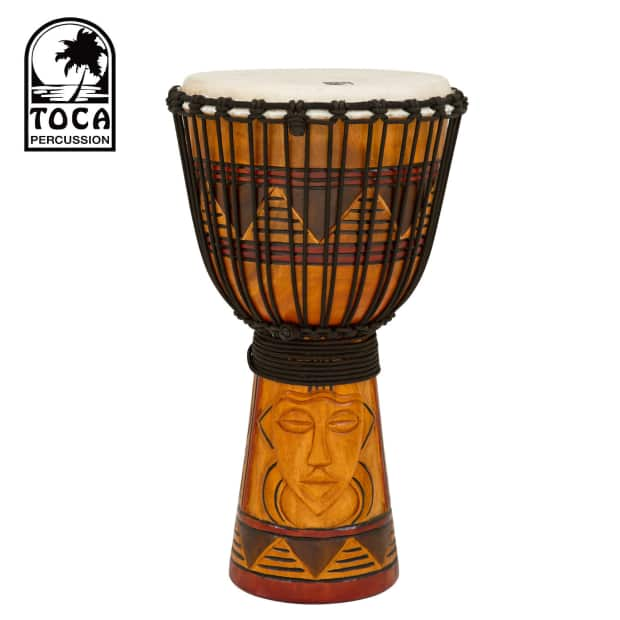 Toca Origins Series Rope Tuned Wood 12  Djembe with Goatskin Head