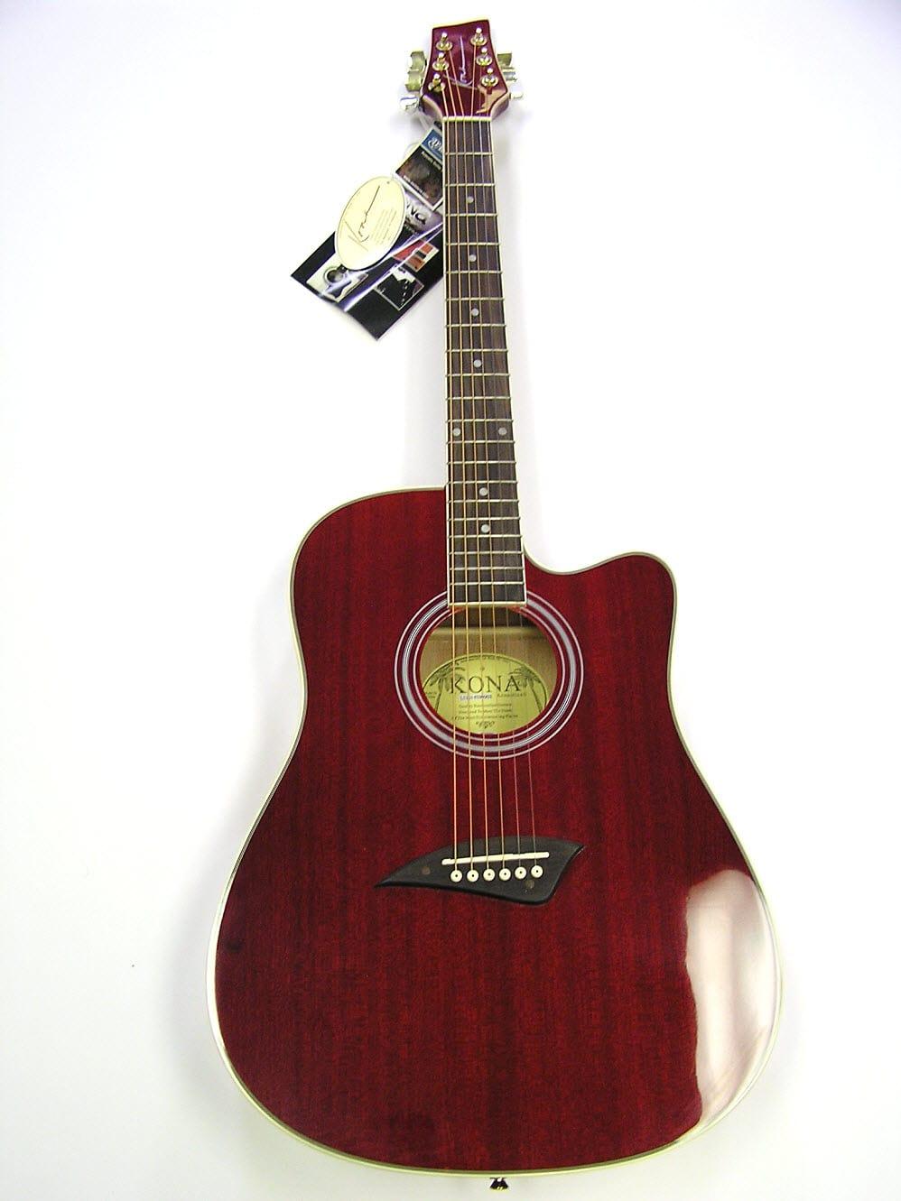 kona k1 series acoustic guitar trans red gloss finish reverb. Black Bedroom Furniture Sets. Home Design Ideas