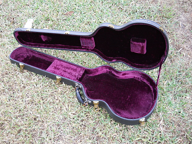 vintage early 39 70s gibson l6s purple lined guitar case great reverb