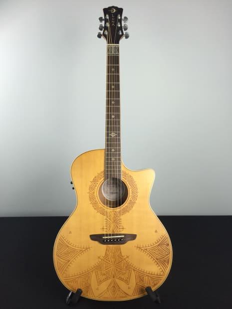 luna henna sahara acoustic electric solid spruce top guitar reverb. Black Bedroom Furniture Sets. Home Design Ideas