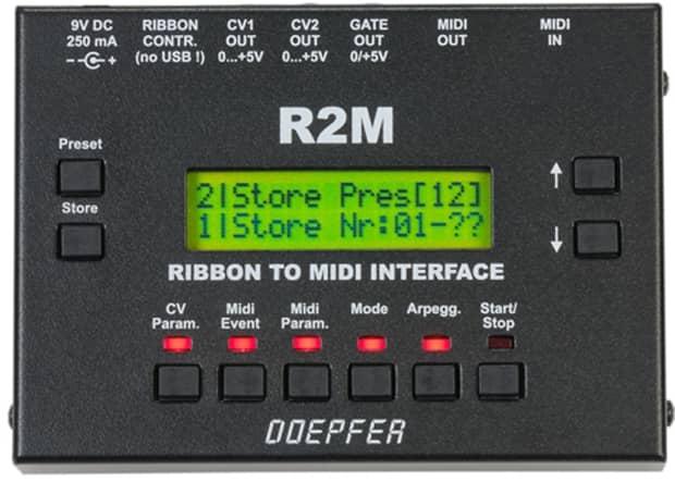 doepfer r2m midi cv gate ribbon controller module
