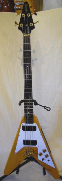 epiphone limited edition korina flying v bass guitar case reverb. Black Bedroom Furniture Sets. Home Design Ideas