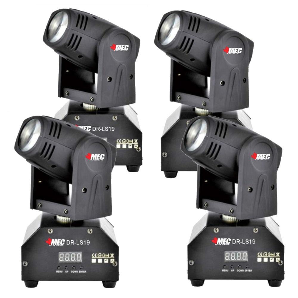 MEC DR-LS19 10W RGBW LED Mini Moving Head X4 Club dj Stage Lights DMX512 PARTY SHOW