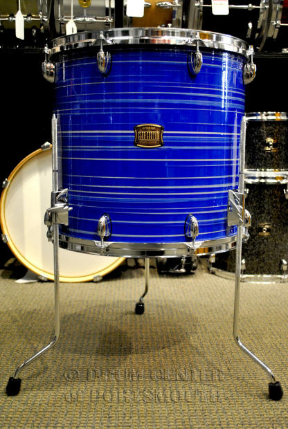 Yamaha club custom floor tom 16x15 swirl blue reverb for 16 x 12 floor tom