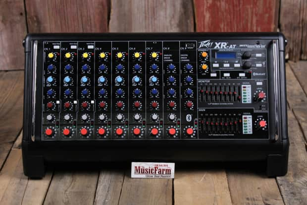peavey xr at 9 channel powered mixer xrat antares auto tune reverb. Black Bedroom Furniture Sets. Home Design Ideas