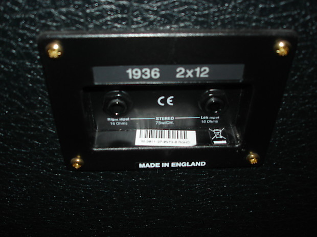 marshall 1936 lead 2x12 cabinet made in england reverb. Black Bedroom Furniture Sets. Home Design Ideas