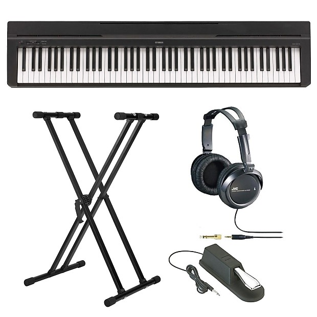 yamaha p35b 88 key digital piano with stand jvc. Black Bedroom Furniture Sets. Home Design Ideas