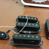 Misc luthier lot of pickups w/1 usa pickup  Singles and humbucker