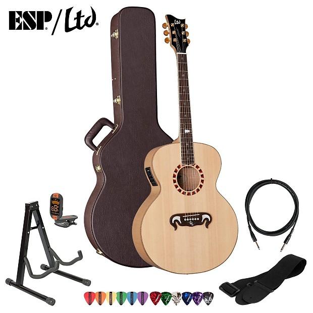 esp george lynch gl j1es nat acoustic electric guitar kit w reverb. Black Bedroom Furniture Sets. Home Design Ideas