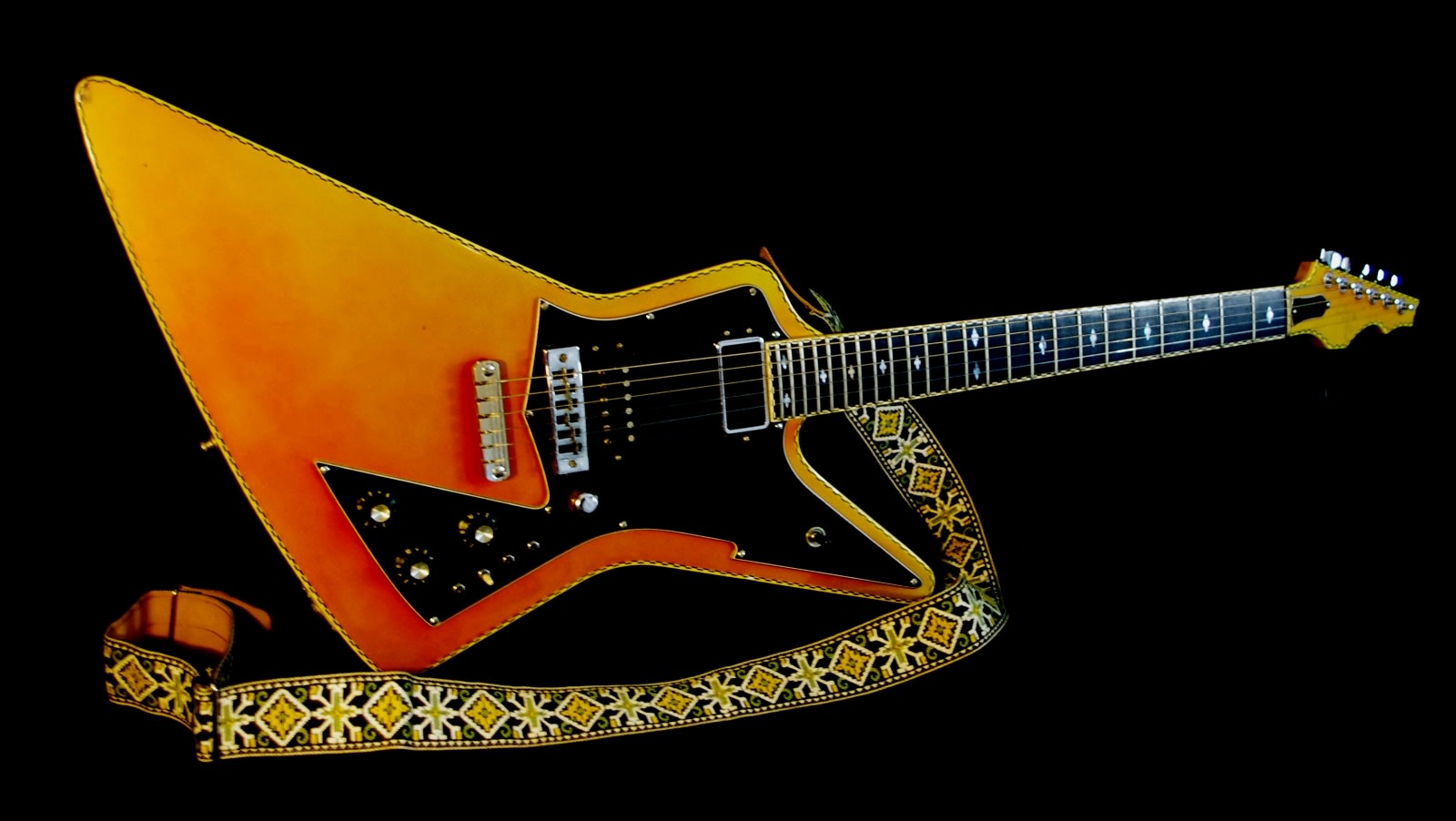 T.I.M.E. Explorer 1983 Orange Metallic.  The Coolest Guitar on the Planet.  EXTREMELY RARE EXPLORER