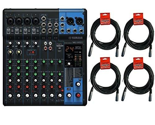 Yamaha mg10xuk5 10 channel mixer w fx and 4 20ft for Yamaha mg10xu usb cable