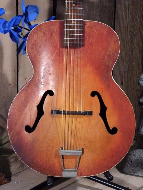 Silvertone Acoustic Guitar Vintage 1950's All The Street ...