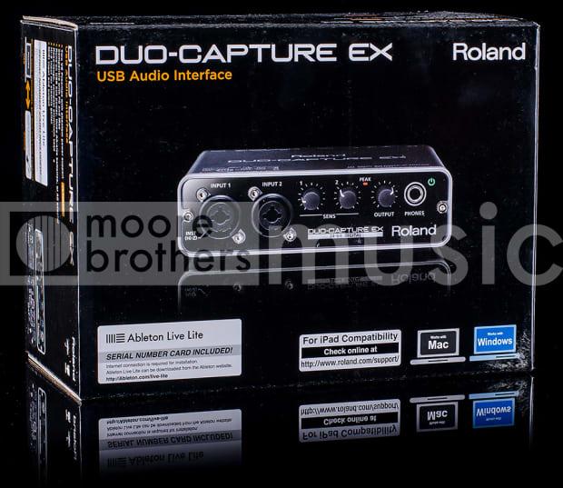 roland duo capture ex audio interface reverb. Black Bedroom Furniture Sets. Home Design Ideas