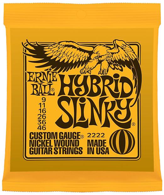 ernie ball hybrid slinky custom gauge nickel wound guitar reverb. Black Bedroom Furniture Sets. Home Design Ideas
