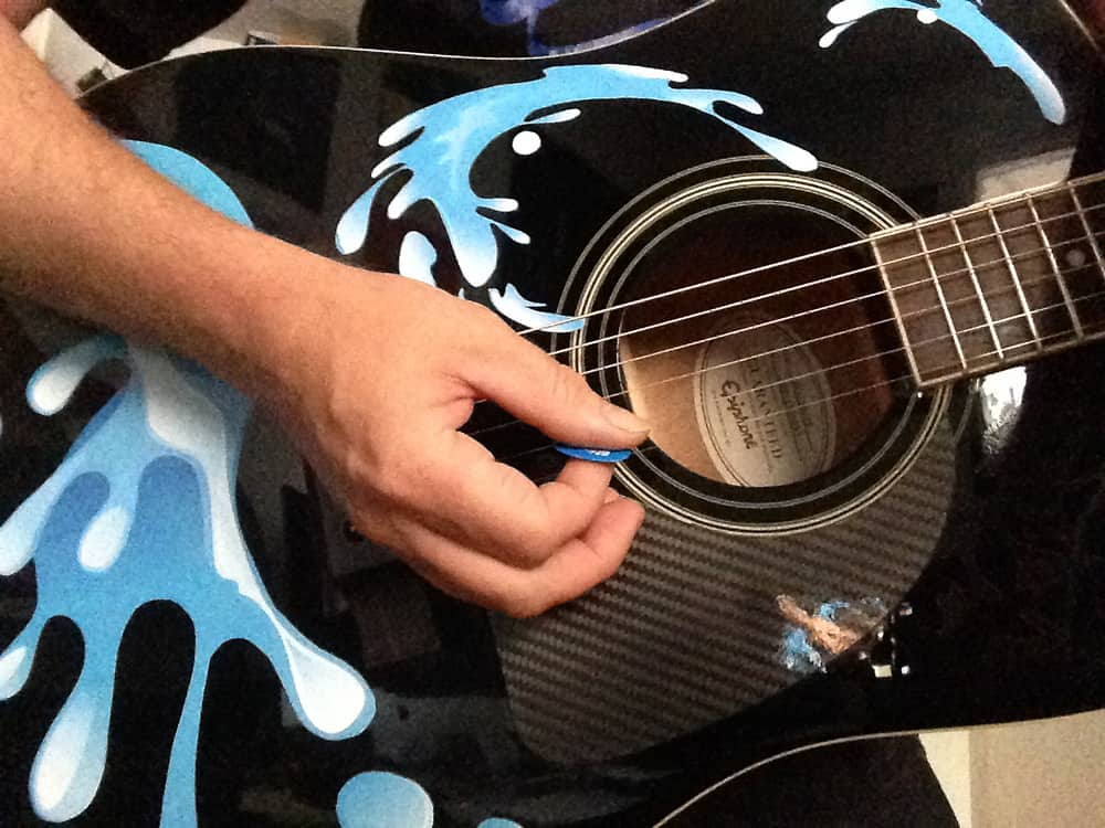 Guitar Decals Water Splash Stickers For Acoustic Guitars