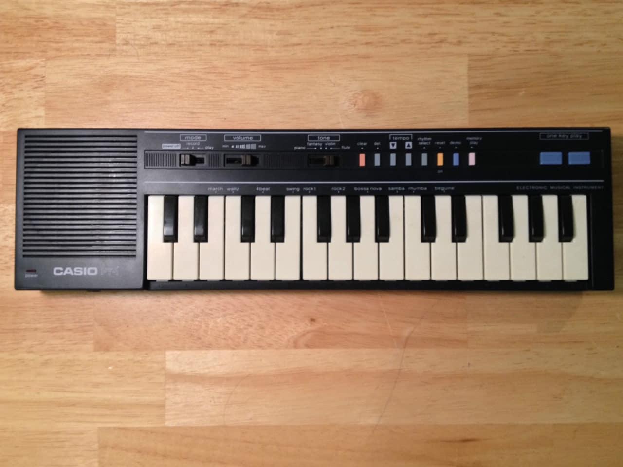 Casio Pt 1 1980 Black Orig Box Amp Manual Power Cord