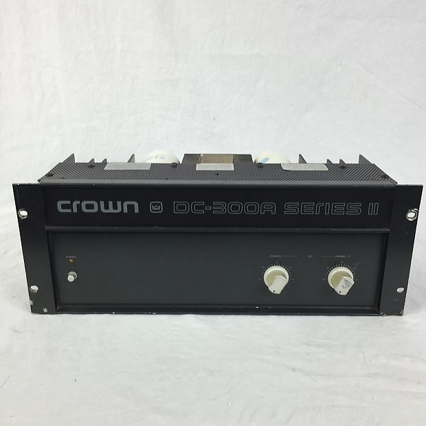 crown dc 300a series ii power amplifier reverb. Black Bedroom Furniture Sets. Home Design Ideas