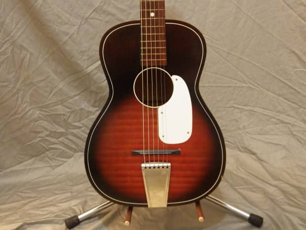 barclay stella style parlor guitar red burst pre 1954 reverb. Black Bedroom Furniture Sets. Home Design Ideas