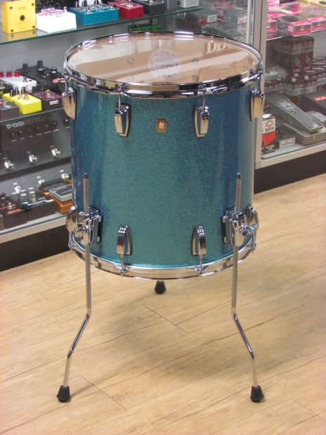 Usa ludwig classic maple 16x16 floor tom in teal sparkle for 16x16 floor tom