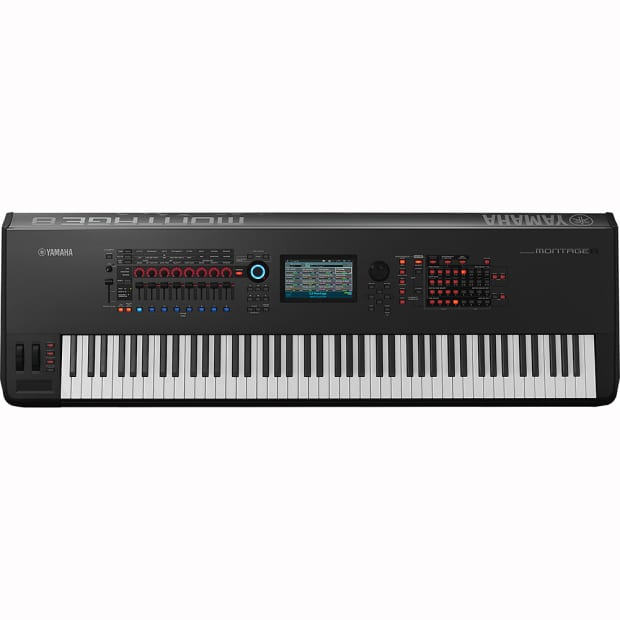 Yamaha montage8 88 key flagship workstation synthesizer w reverb for Yamaha fully weighted keyboard