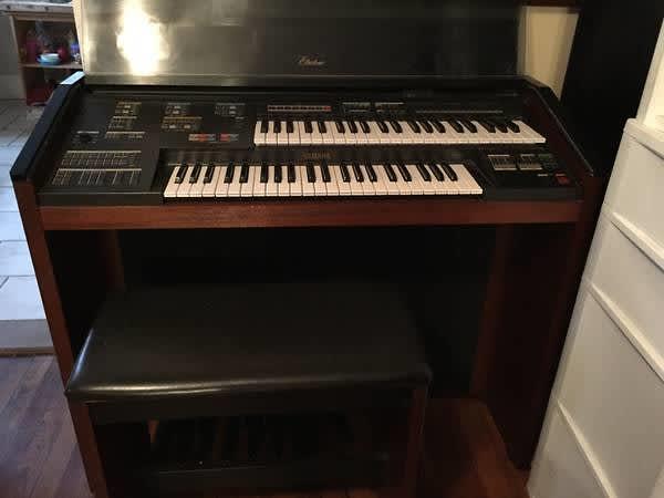 Yamaha electone mr 500 1985 electric organ reverb for Yamaha electone organ models