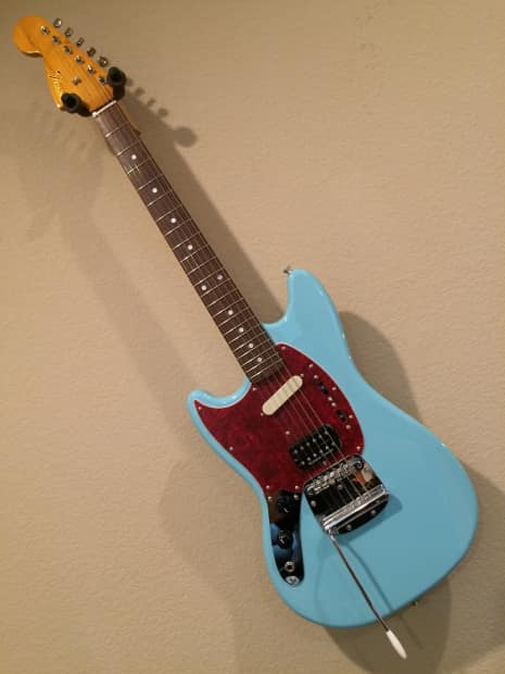 fender kurt cobain mustang lefty sonic blue with collector 39 s reverb. Black Bedroom Furniture Sets. Home Design Ideas