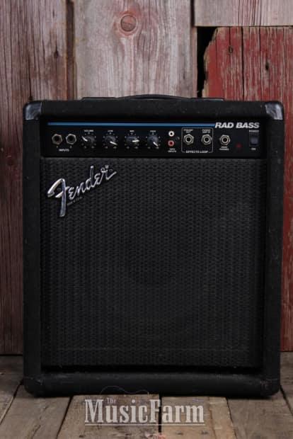 fender rad bass electric bass guitar amplifier 30 watt solid reverb. Black Bedroom Furniture Sets. Home Design Ideas