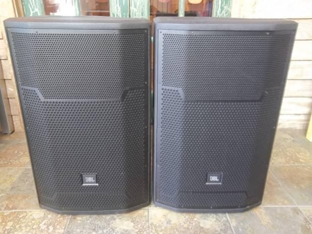 Jbl prx715 15 1500w powered main system floor monitor for 15 floor speakers