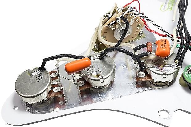 loaded strat pickguard dimarzio cruisers split wiring treble reverb. Black Bedroom Furniture Sets. Home Design Ideas
