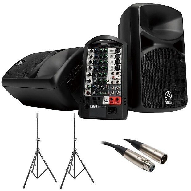 yamaha stagepas 600i portable pa system with 2 on stage. Black Bedroom Furniture Sets. Home Design Ideas