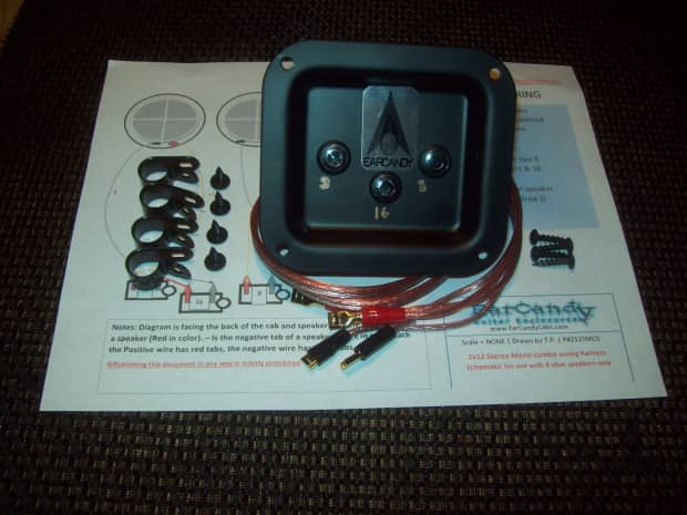 Guitar Speaker Wiring Harness : Earcandy guitar amp speaker cab wiring harness