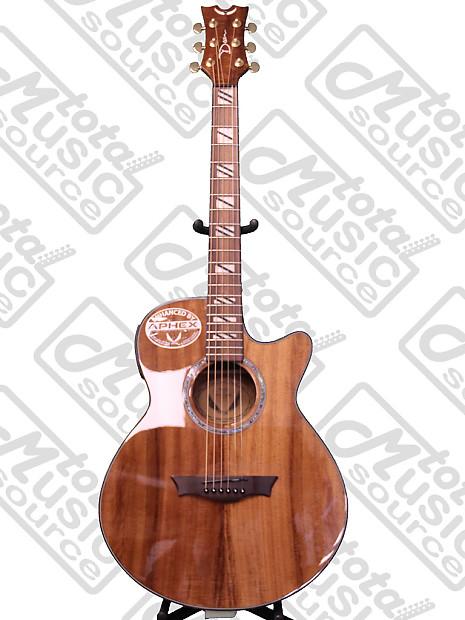 dean koa performer natural acoustic electric guitar dmt reverb. Black Bedroom Furniture Sets. Home Design Ideas