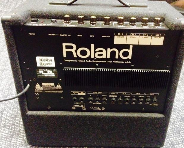 roland kc 300 keyboard amplifier with owners manual black reverb. Black Bedroom Furniture Sets. Home Design Ideas