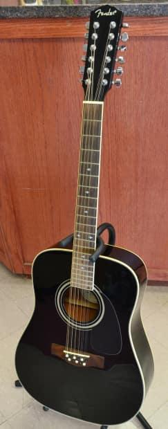 fender dg 16e 12 string acoustic electric guitar black reverb. Black Bedroom Furniture Sets. Home Design Ideas