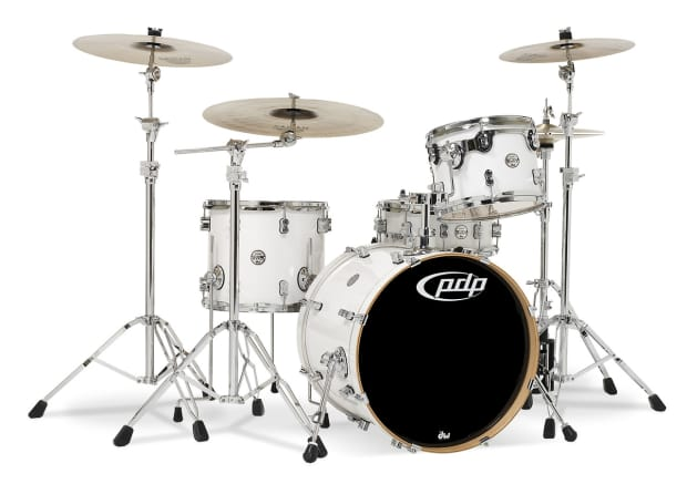 Concept maple by dw pearlescent white chrm hw 4 pcs for 16 x 12 floor tom
