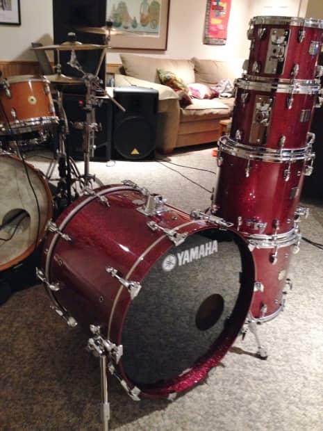 Daves Auto Sales >> Yamaha Maple Custom Absolute Drum set in Burgundy Sparkle ...