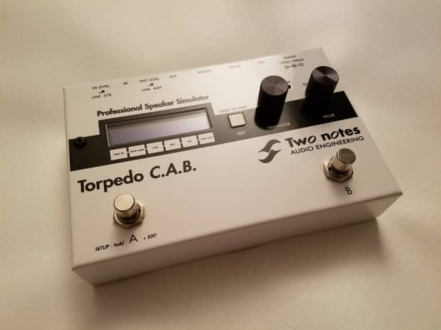 two notes torpedo cab amp speaker cab simulator pedal reverb. Black Bedroom Furniture Sets. Home Design Ideas