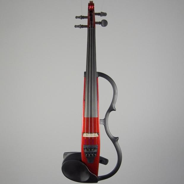 Yamaha sv 130 silent electric violin candy apple red reverb for Yamaha electric violin