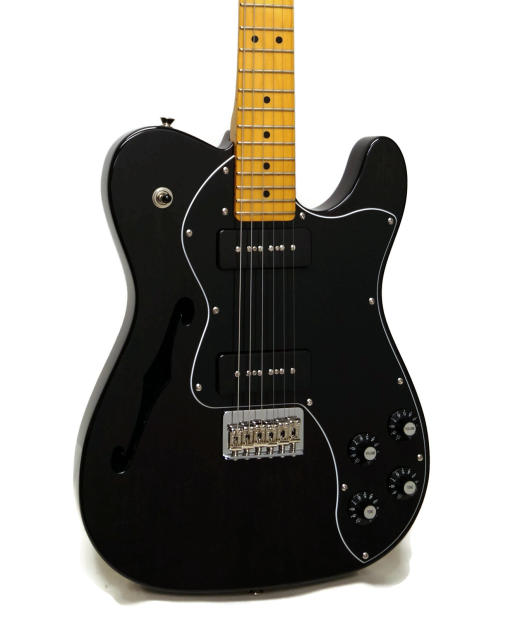 fender modern player telecaster thinline deluxe electric guitar trans black reverb
