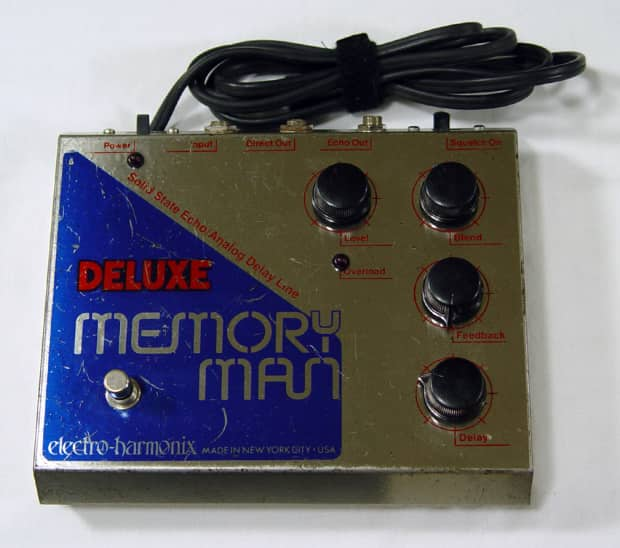 vintage 1977 electro harmonix deluxe memory man multi effects reverb. Black Bedroom Furniture Sets. Home Design Ideas