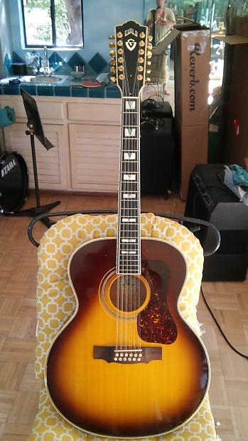 39 01 guild f412 acoustic elec 12 string guitar stop look reverb. Black Bedroom Furniture Sets. Home Design Ideas