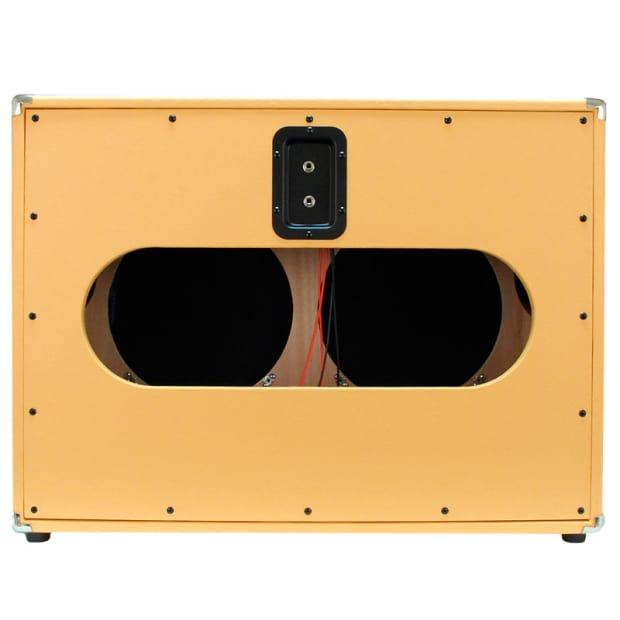 EMPTY Orange Tolex 2x12 GUITAR SPEAKER CAB Cabinet 212 Reverb
