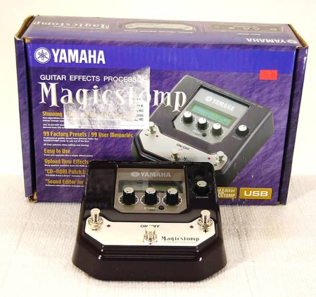 yamaha magicstomp guitar multi effects pedal w box manual reverb. Black Bedroom Furniture Sets. Home Design Ideas
