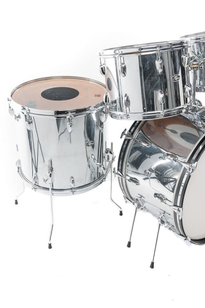 Slingerland 13 14 18 floor tom 14x24 bass drum chrome for 13 floor tom