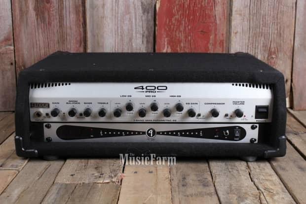 fender 400 pro electric bass guitar amplifier head amp with reverb. Black Bedroom Furniture Sets. Home Design Ideas