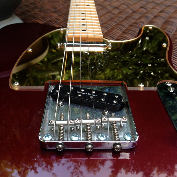 Fender Warmoth Wine Red Telecaster W Gold Pickguard