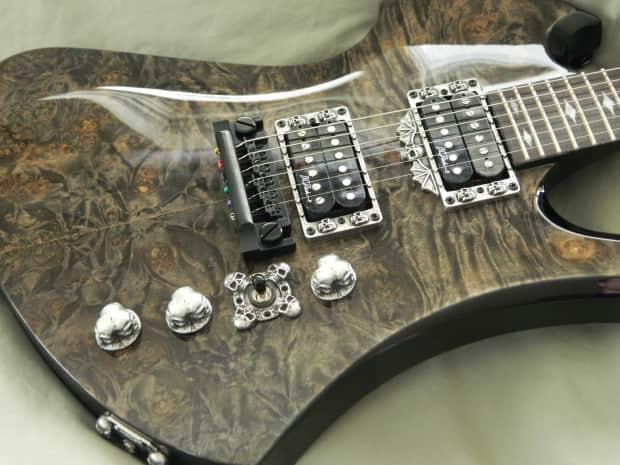 7 skull parts for bc rich mockingbird guitar knobs pickup reverb. Black Bedroom Furniture Sets. Home Design Ideas